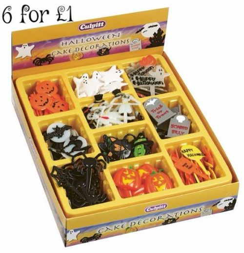 Assorted Halloween Cake Decorations